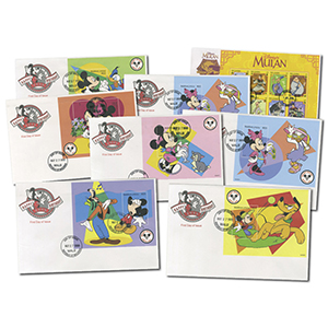 Disney First Day Covers x 8