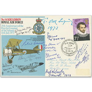 No. 54 Squadron - Signed by 10