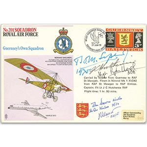 No. 201 Squadron - Signed by 4