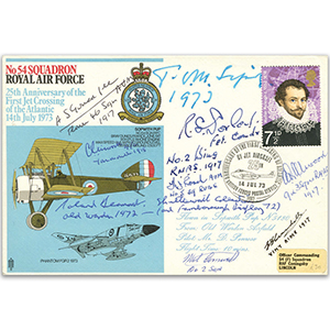 No. 54 Squadron - Signed by 9