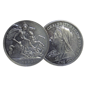 1893 Silver Proof Crown Coin