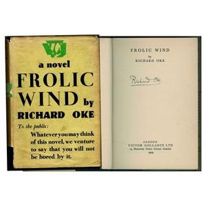 'Frolic Wind' 1st edition 1930 signed by author