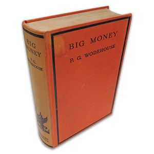 P G Wodehouse Big Money 1931 First Edition