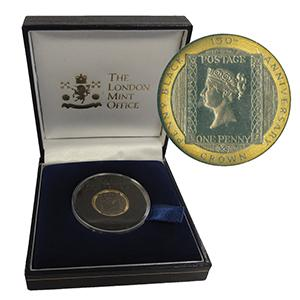 1990 Isle of Man Proof Gold Penny Black Crown