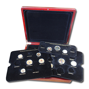 11 Colourised UK coins in presentation box