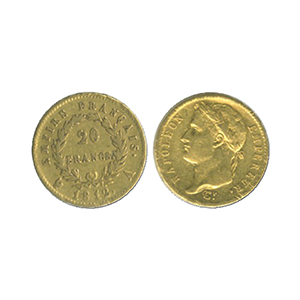 1812 Gold Napoleon 20 Francs coin