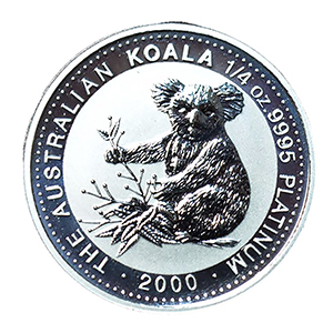 Australia 2000 Platinum $25.00 Koala, Bullion Finish