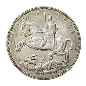nited Kingdom 1935 Silver 'Rocking Horse' Crown