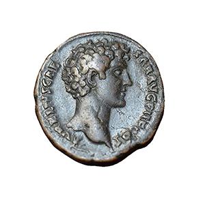 Roman Empire, 142AD Copper AS, Issued Under Marcus Aurelius