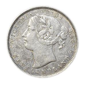 Newfoundland 1865 Silver 20c, EF-AU