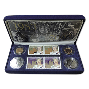 Canada 2003 Coronation Stamp & Coin set