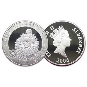 2006 Alderney Silver Proof Elizabeth I £5
