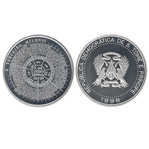 1998 St Thomas Millenium Silver 2000 Dobras