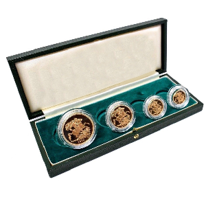 1980 Gold Proof Sovereign 4 Coin Set Boxed