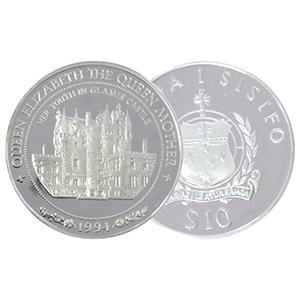 1994 Samoa Queen Mother Glamis silver $10 Coin