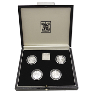 1984-1987 Royal Mint £1 Silver Proof Piedfort Collection