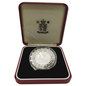 2000 Millenium Royal Mint Silver Proof £5 coin