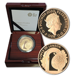 2020 Tower of London £5 Gold Proof Coin