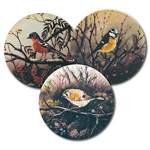 Collector Plates - Birds - Set of 9