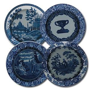 Spode Collector Plates - Blue Room - Set of 4