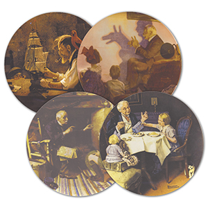 Norman Rockwell Heritage Collection Plates - Set of 10