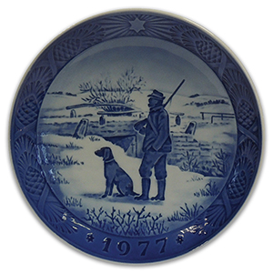 Royal Copenhagen Porcelain Plate - Christmas 1977