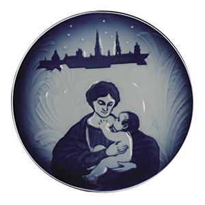 Royal Copenhagen Decorative Christmas Plate - Mother and Child
