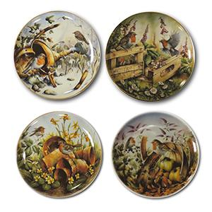 Robins Through the Seasons - Set of 4 Plates