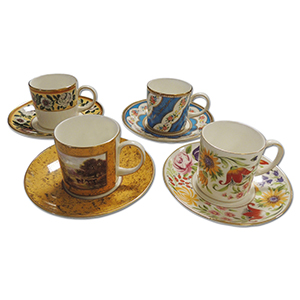 Bone China Cup & Saucers - Set of 12