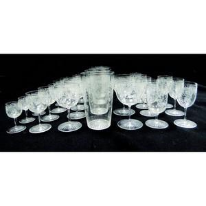 Etched Classes - Mixture of Sizes - Set of 19