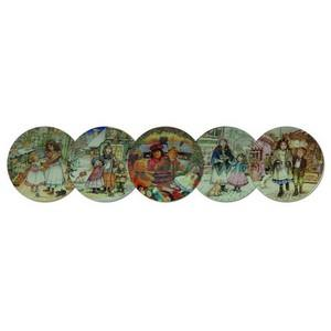 NSPCC Christmas Plates - Set of 5