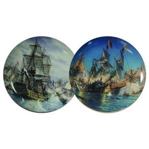 Great Sea Battles Commemorative Plates - Set of 2