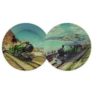 Great Steam Trains Commemorative Plates - Set of 2