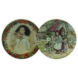 Barnardo's Christmas Plates - Set of 2