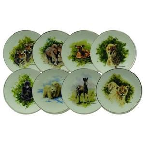 David Shepherd Collection Plates - Set of 8