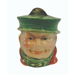 Beswick England Character Pot with lid -  Tony Weller 1207