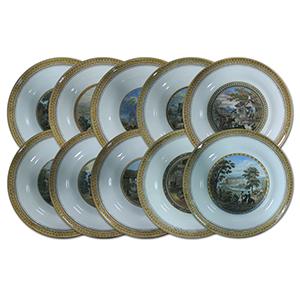 10 F & R Pratt plates c.1860