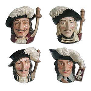 Royal Doulton The Four Muskateers Toby Jugs