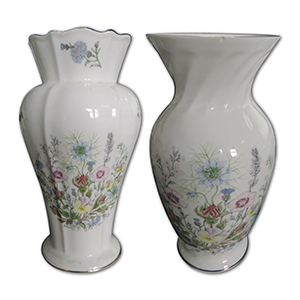 Pair Aynsley Wild Tudor Vases