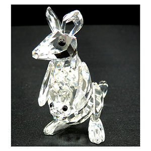 Swarovski Crystal Kangaroo with Baby 181756