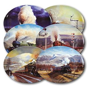 When Steam was King x 6 plates