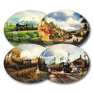 Railway Memories x 4 plates