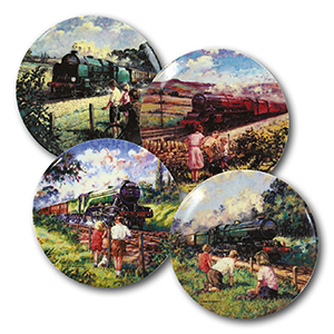 The Golden Age of Steam x 4 plates
