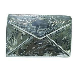 Reproduction Large Silver Envelope-Shaped Stamp Box