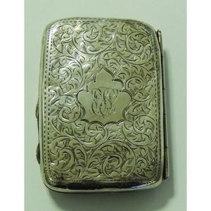 Decorated Silver Cigarette Case