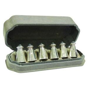 American Silver Pepper Pots - Set of 6