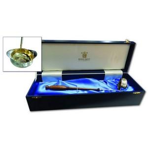 Royal Mint Silver Gilt Ladle with Coin Inset
