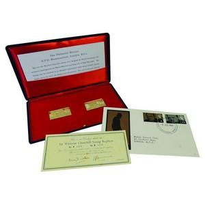 Sir Winston Churchill Replica 18ct Gold Stamps