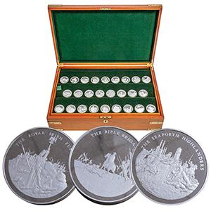 Great British Regiments Silver Medallions Collection