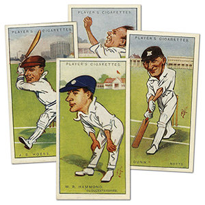 Cricketers, Caricatures by 'RIP' (50) Player's 1926